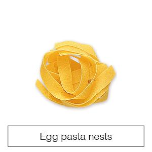 Egg pasta nests